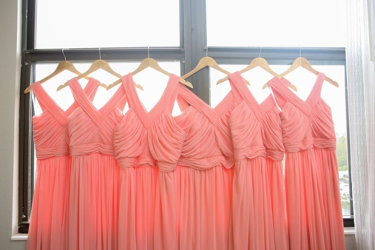 Peach Pink Bella Bridesmaid Dress | Alfred Sung D678 Apricot