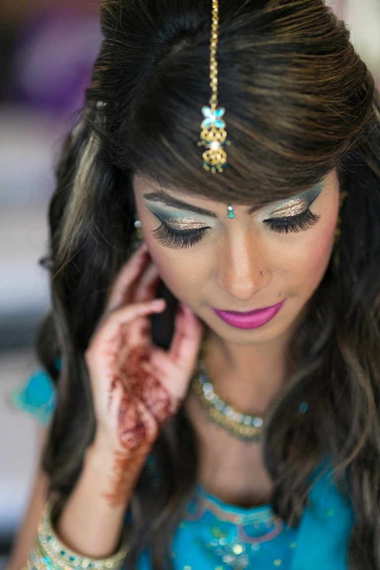 Blue Indian Bride | Tampa Wedding Hair and Make Up by Michele Renee The Studio