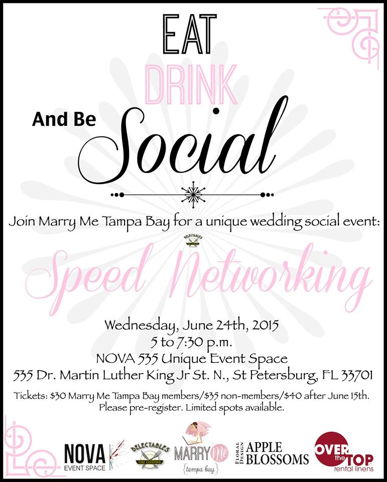 Marry Me Tampa Bay Wedding Speed Networking