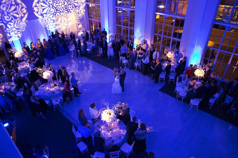 First Dance | Blue Lighting by Nature Coast Entertainment | Modern Wedding at the Vault