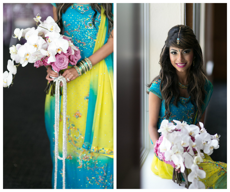 White and Pink Wedding Bouquet | Tampa Indian Wedding Photographer Roohi Photography