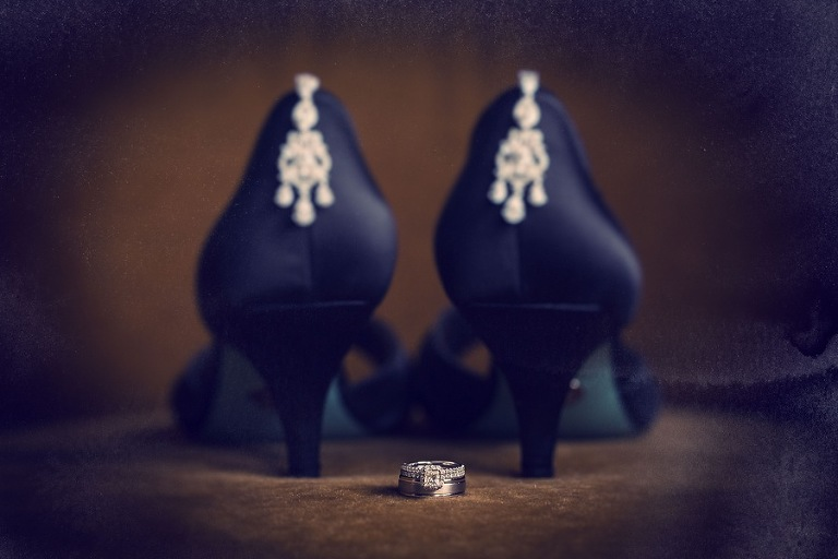 Black Besty Johnson Wedding Shoes with Wedding Jewlery