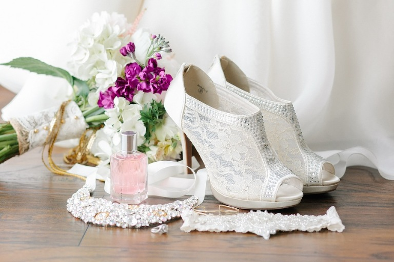 White Lace Wedding Booties | Open Toed Wedding Shoes