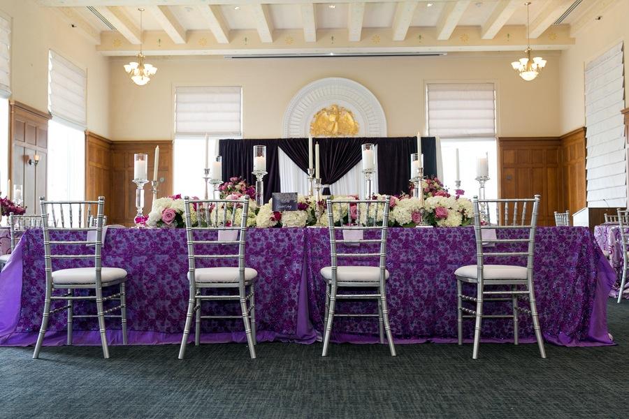 Purple Modern Indian Wedding | Downtown Tampa Wedding Venue Le Meridien