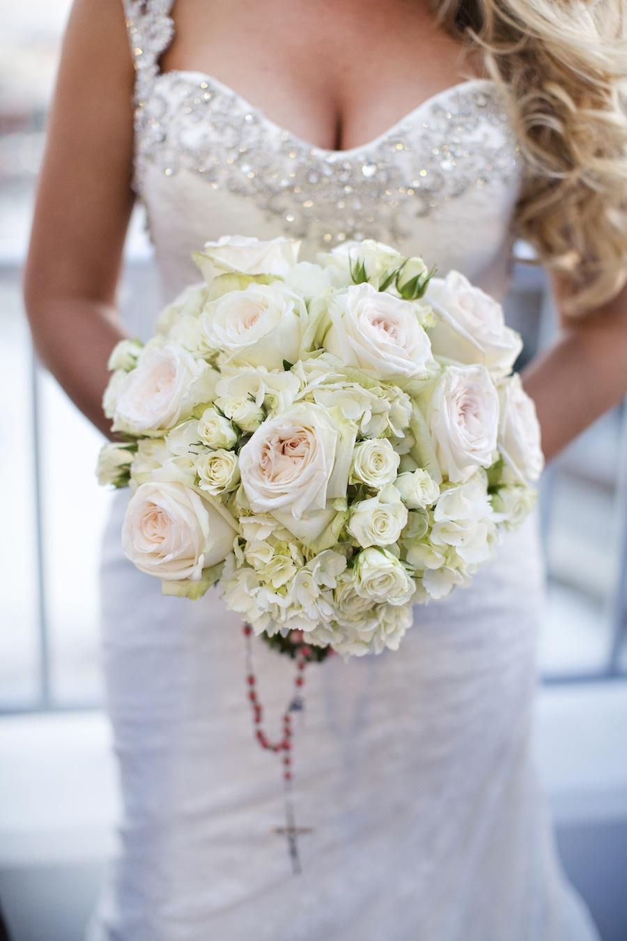 White Rose Wedding Bouquet | Tampa Wedding Florist Apple Blossoms Floral Designs