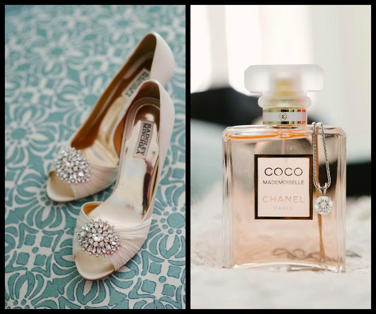Badgley Mischka Jeweled Rhinestone Wedding Shoes | Coco Chanel Perfume