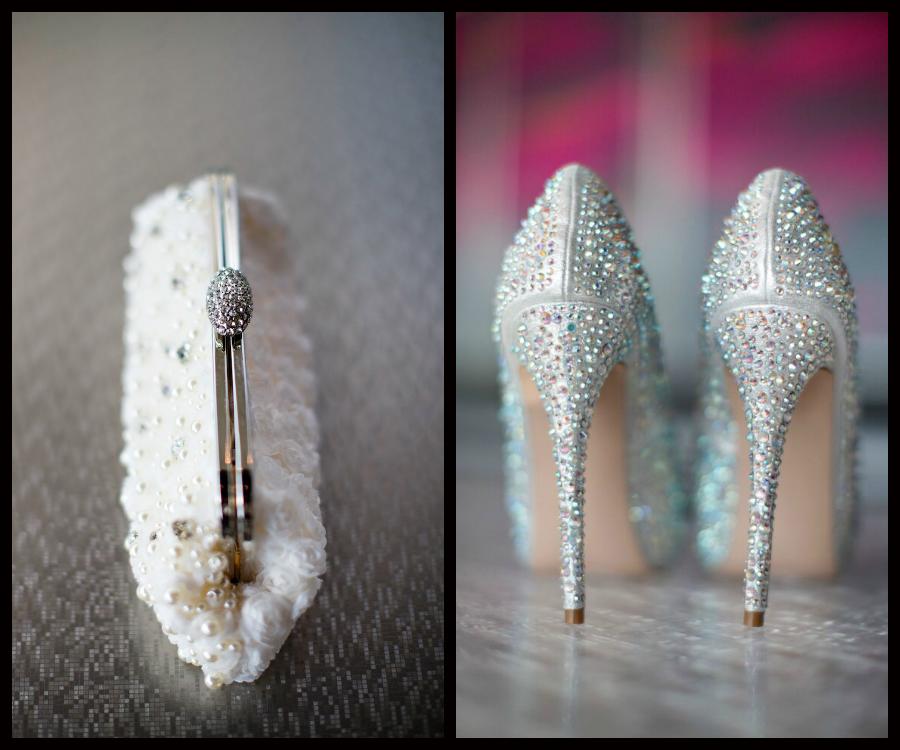 Silver Rhinestone Wedding Shoes