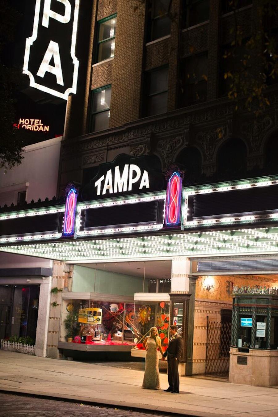 Tampa Theatre Wedding Portrait | Downtown Tampa Wedding