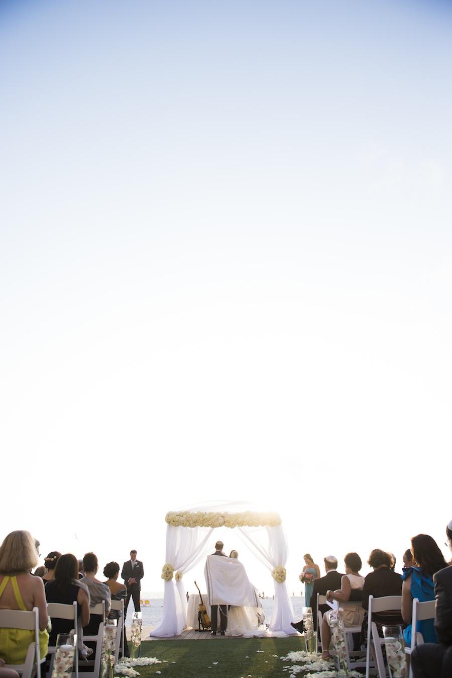 Jewish Wedding Chuppah Draped in Flowers   Clearwater Beach Wedding Ceremony
