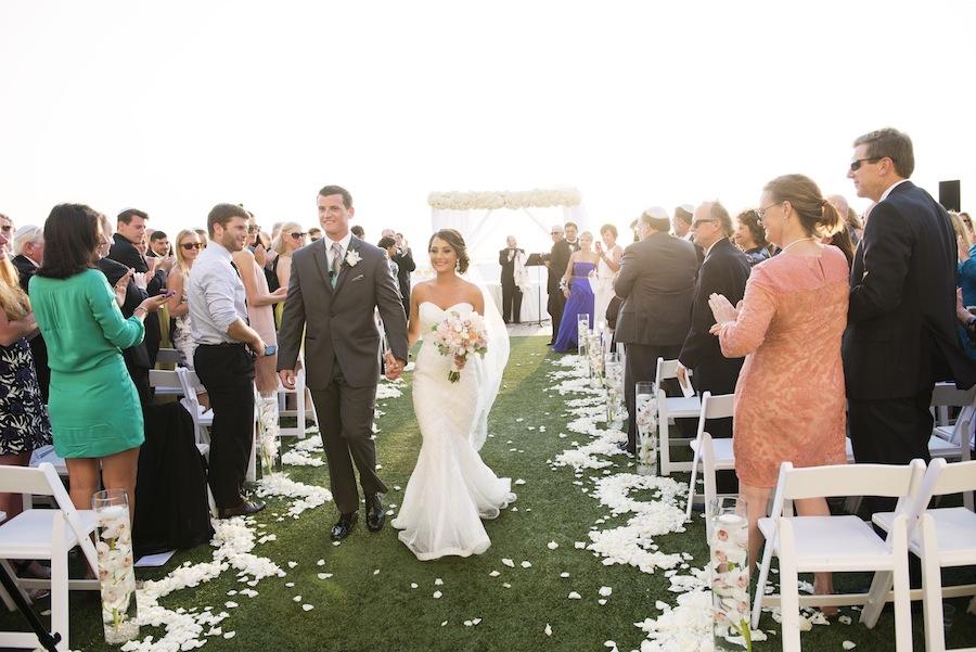 Jewish Wedding Chuppah Draped in Flowers | Clearwater Beach Wedding Ceremony