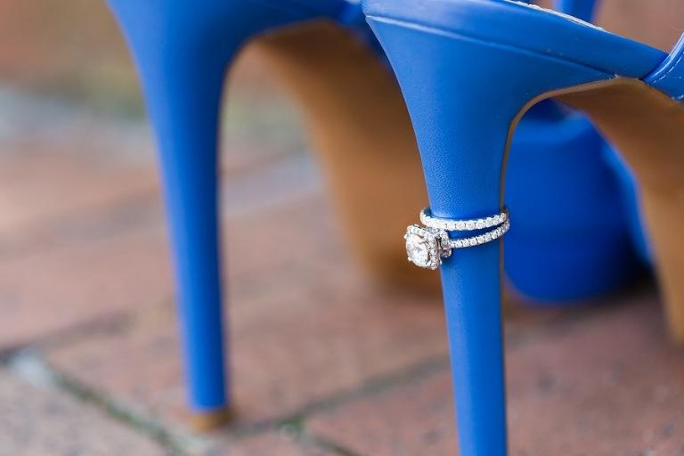 Blue High Heel Wedding Shoes