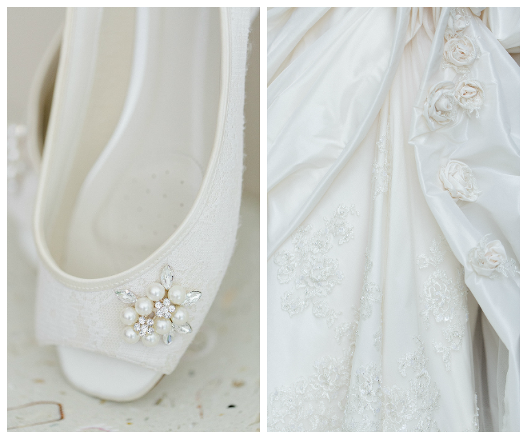White Wedding Shoes | Maggie Sottero Wedding Dress