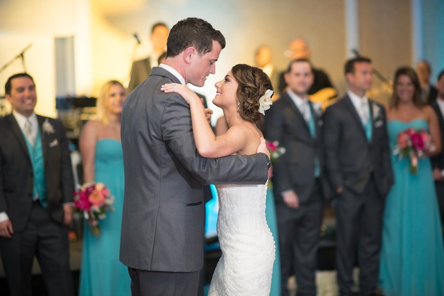 Bride and Groom First Dance on Wedding Day