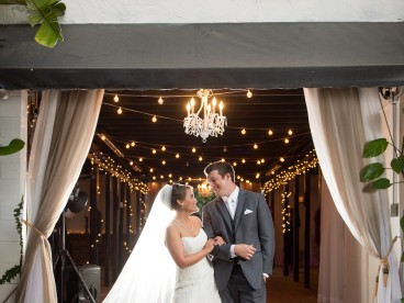 Bride and Groom Rustic Wedding Portrait at Karnes Stables | Marc Edwards Photographs