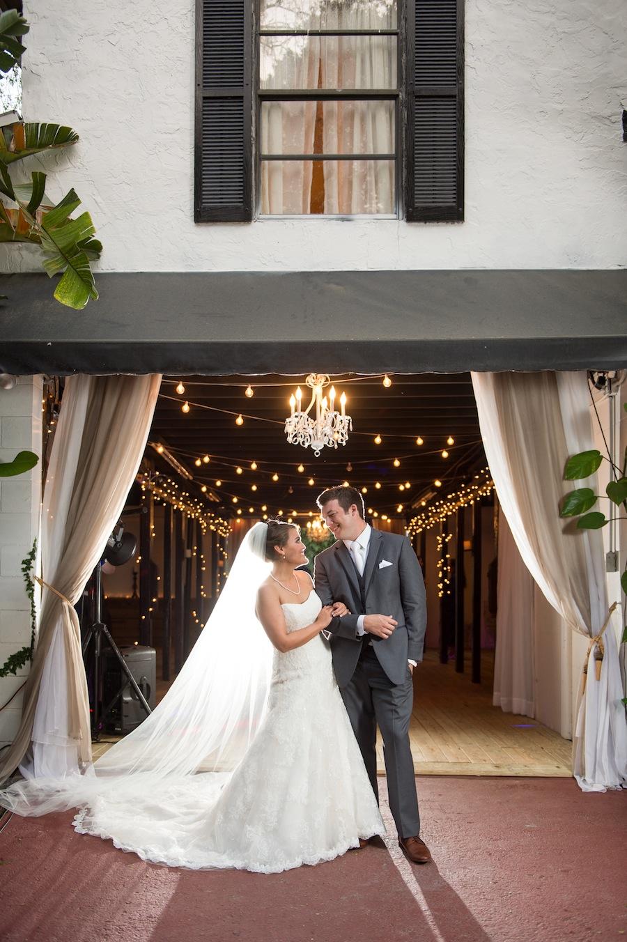 Bride and Groom Rustic Wedding Portrait at Karnes Stables   Marc Edwards Photographs