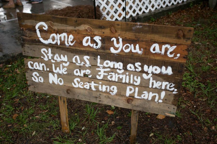 Rustic Wedding Ceremony Yard Sign