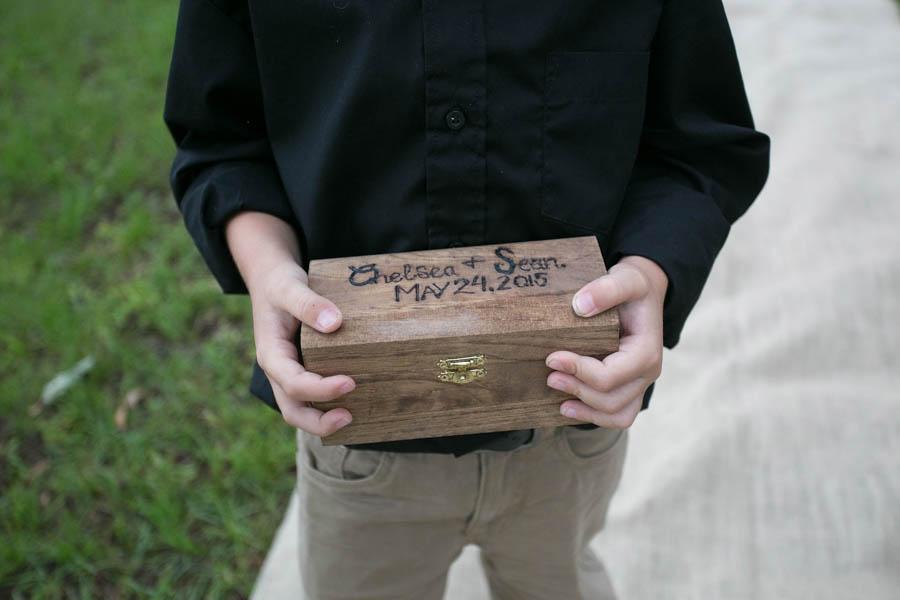Rustic Wooden Ring Bearer Wedding Box