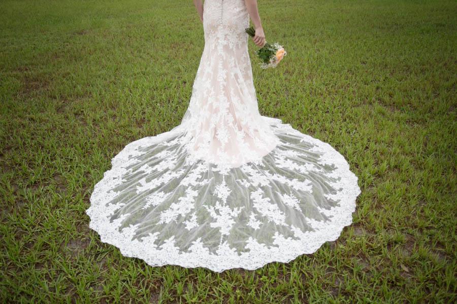 Rustic, Vintage Lace Wedding Dress