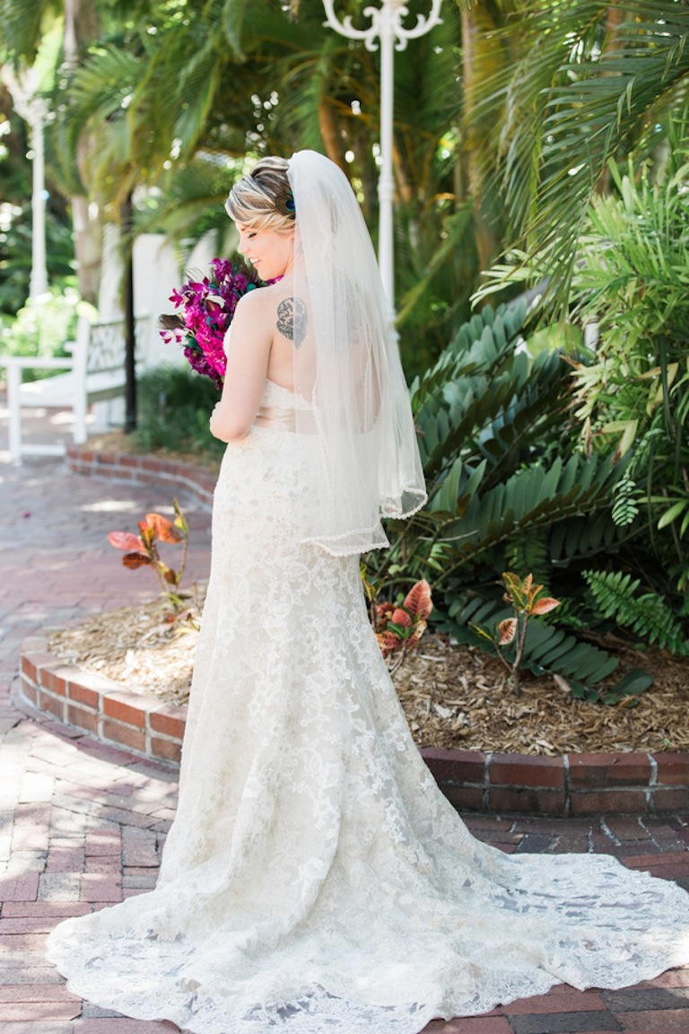 St. Pete Beach Bridal Wedding Portrait | Tradewinds Wedding