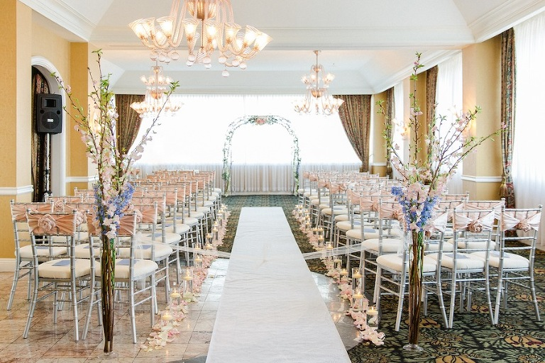 Blush Pink & Blue Fairy Tale Wedding Ceremony | Tampa Wedding Venue Centre Club Wedding
