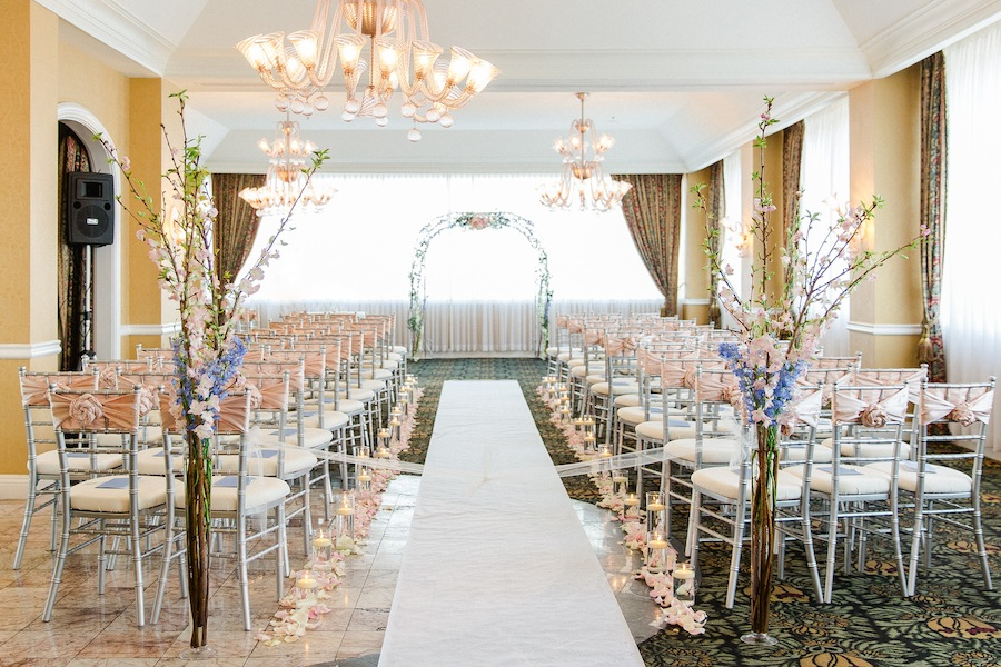 Blush Pink & Blue Fairy Tale Wedding Ceremony | Tampa Wedding Venue Centre Club Wedding