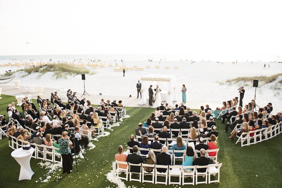 Sandpearl Wedding Ceremony   Clearwater Beach Wedding Ceremony