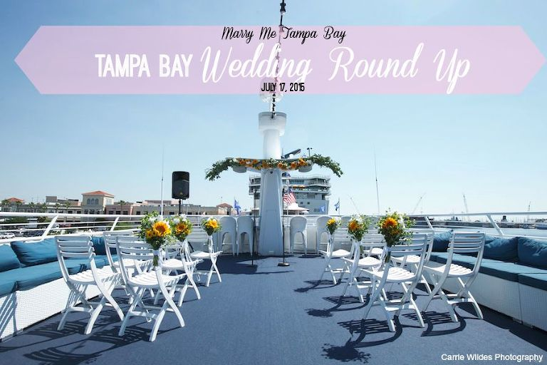 Tampa Bay Wedding Round Up: July 17, 2015   Yacht StarShip Wedding   Carrie Wildes Photography