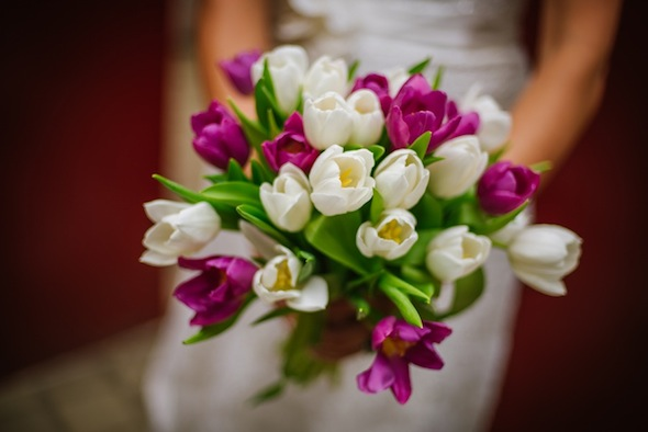White and Purple Wedding Bouquet   Tampa Wedding Florist