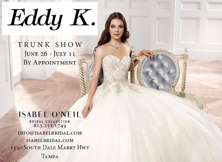 Eddy K Trunk Show | South Tampa Bridal Salon Isabel O'Neil Bridal