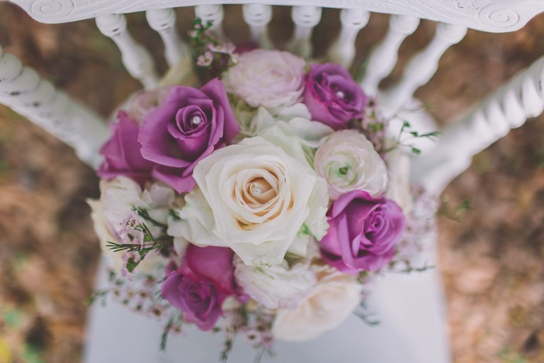 Vintage Pink, Purple and Lavender Wedding Bouquet