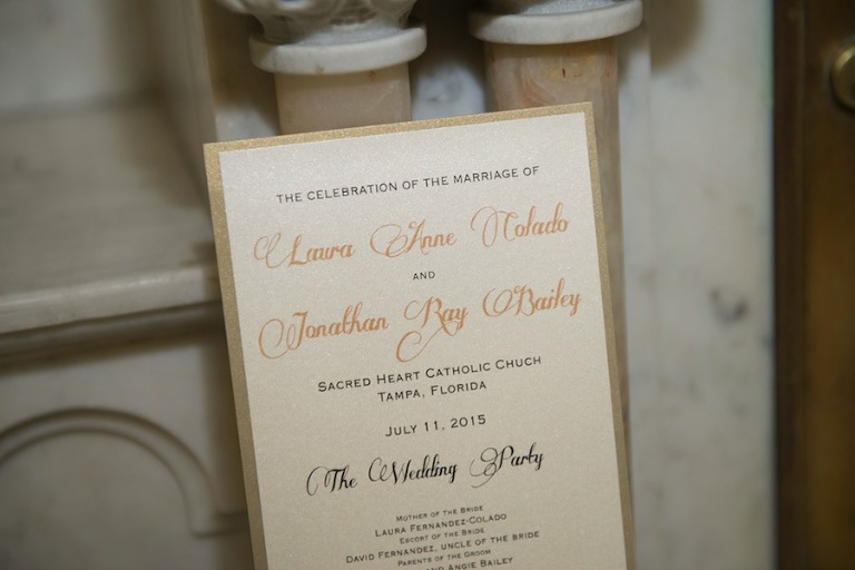 Tradiational Gold Shimmery Wedding Invitation