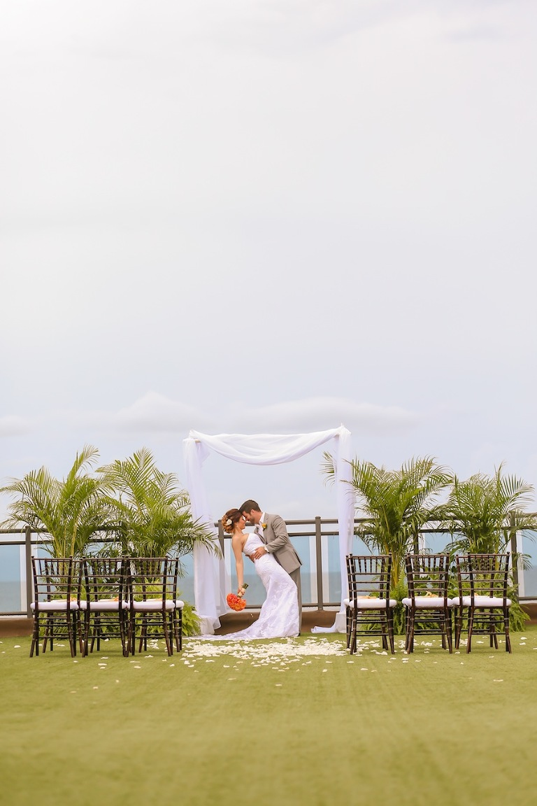 St. Pete Beach Wedding Venue | Hotel Zamora Rooftop Wedding Ceremony