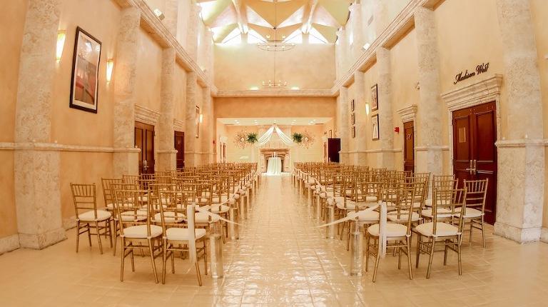 Elegant Indoor Tampa Wedding Ceremony Venue | A La Carte Pavilion