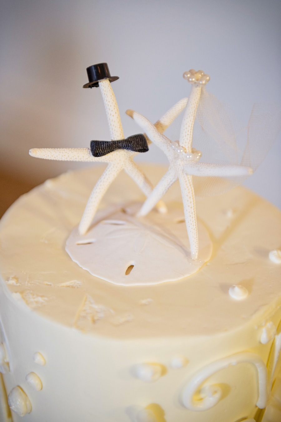 Starfish And Shells Beach Wedding Cake Topper Marry Me