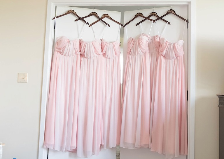 Blush Pink Jim Hjelm Occasions Bridesmaid Dresses