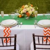 Lemon, Orange and Lime Wedding Centerpieces | Orange and Green Citrus Themed St. Pete Beach Wedding | Blue Skies Events