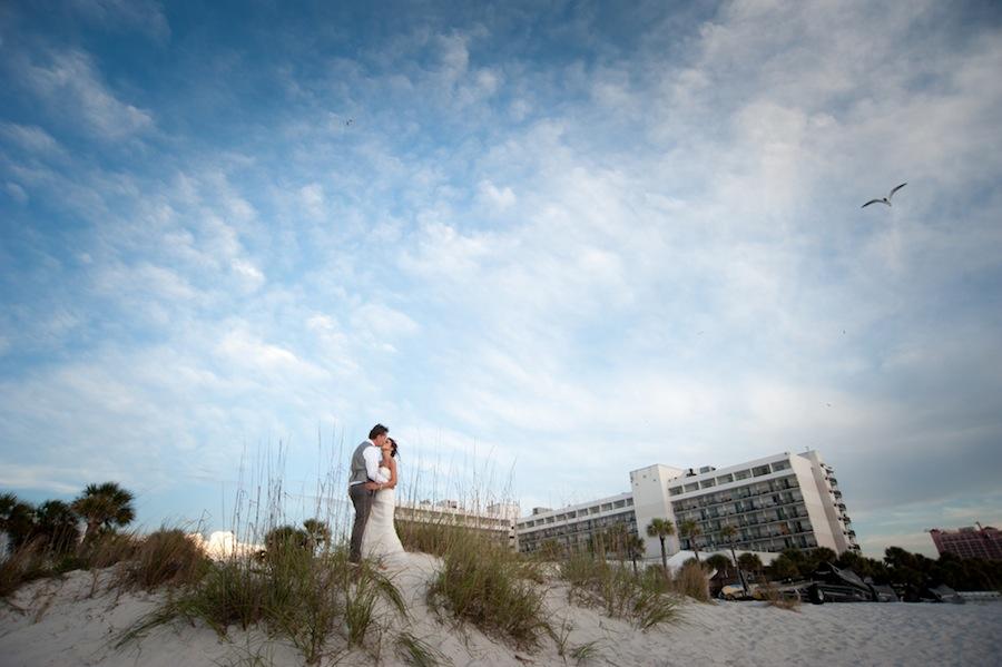 Clearwater Beach Wedding Portrait