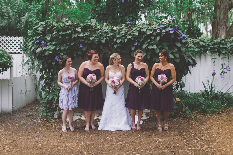 Purple and Lavender Bridesmaid Dresses