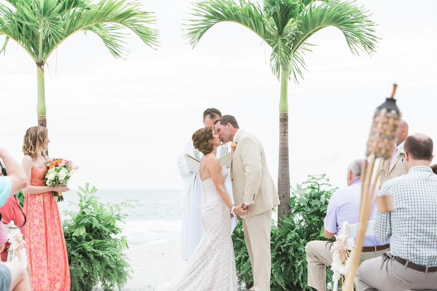 Clearwater Beach Destination Wedding Ceremony | Sunset Beach House Treasure Island