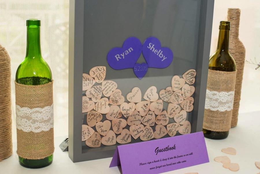 Wooden Heart Wedding Guestbook | Unique Guestbook Ideas