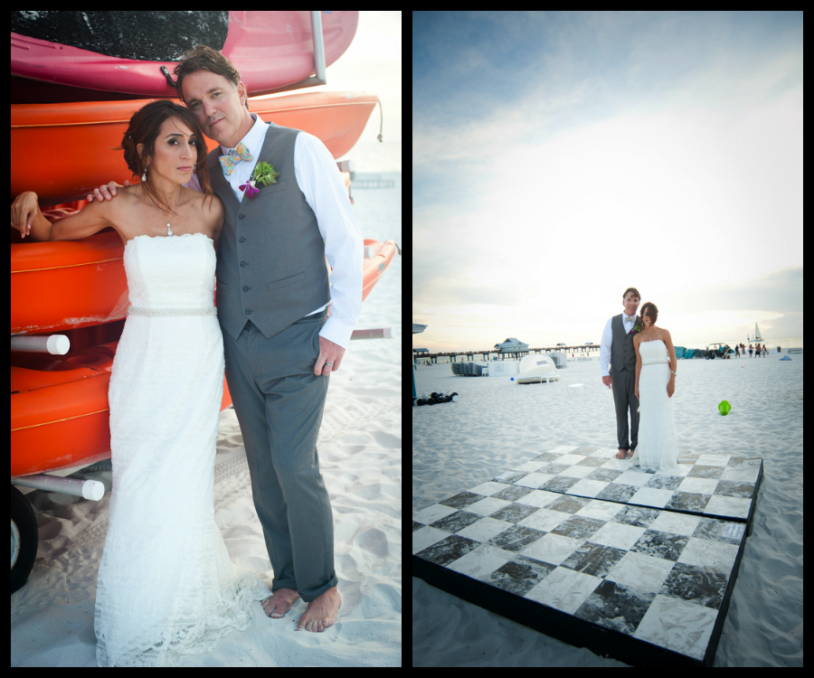Whimsical Clearwater Beach Wedding Portrait