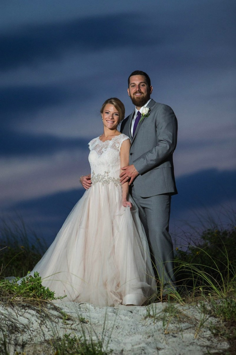 Clearwater Beach Bride and Groom Wedding Portrait | Jeff Mason Photography