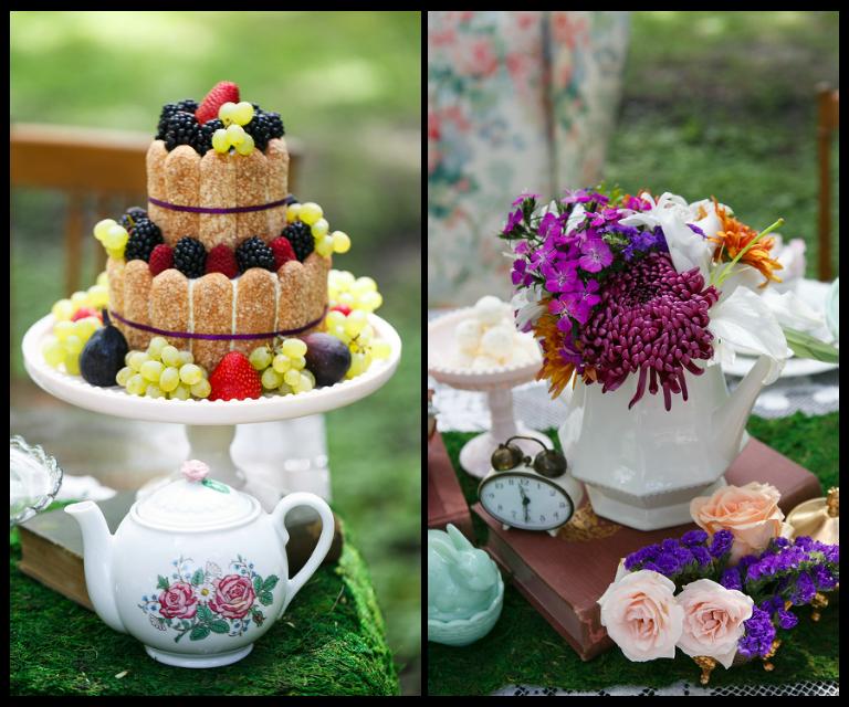 Alice In Wonderland Bridal Tea Party Styled Tampa Wedding
