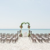 Destination Siesta Key Beach Wedding Ceremony | Tropical Beach Wedding Ceremony Decor