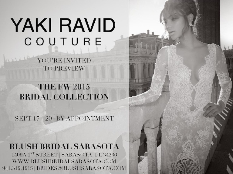 Yaki Ravid Wedding Dress Trunk Show | Blush Bridal Sarasota