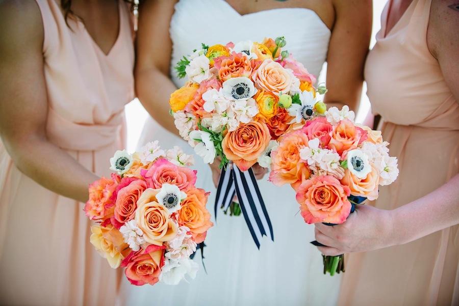 Whimsical Orange Wedding Bouquets | St. Pete Wedding Florist Wonderland Floral Art