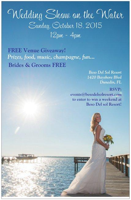 Dunedin Wedding Show at Waterfront Venue Beso Del Sol | Tampa Bay Bridal Show October 2015