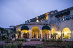 Twilight/Night New Tampa Outdoor Wedding Ceremony at Tampa Palms Golf & Country Club | Tampa Wedding Photographer Marc Edwards Photographs