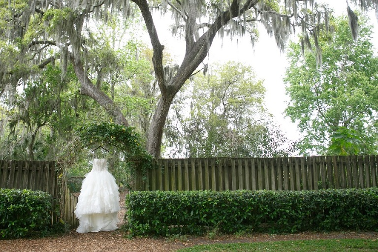 David's Bridal - Oleg Cassini Wedding Dress | Rustic Tampa Bay Wedding Cross Creek Ranch