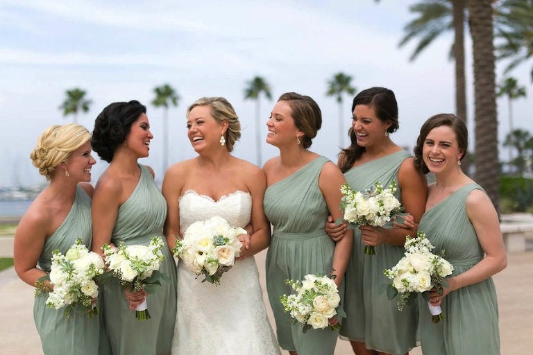 White Bridesmaid and Bride Wedding Bouquets | St. Pete Wedding Florist Wonderland Floral Art